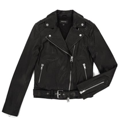 Florica-S5 Black Leather Moto Jacket