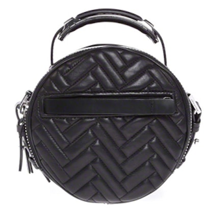 Ibis Small Black Quilted Leather Crossbody Bag