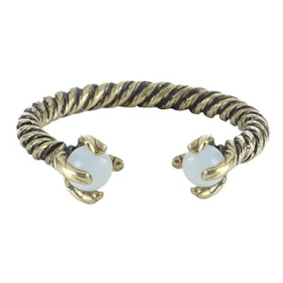 Rope Torque Ring in Brass/Opal