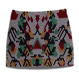 Multicolor Embroidery Miniskirt