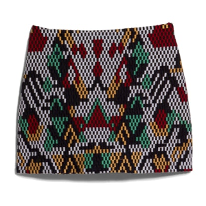 Multicolor Embroidery Miniskirt
