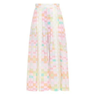 Receptor Citrus-Print Cropped Trousers