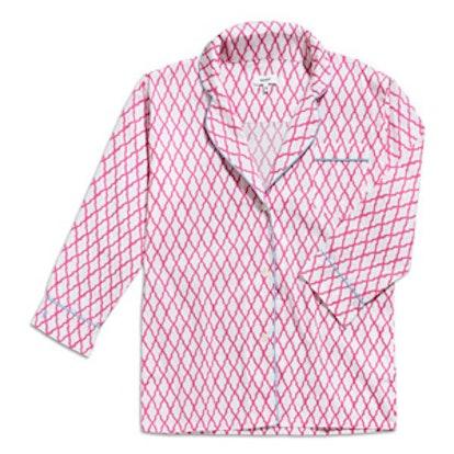 Short Pajama Set in Azalea Lattice (incl. coordinating bottom)