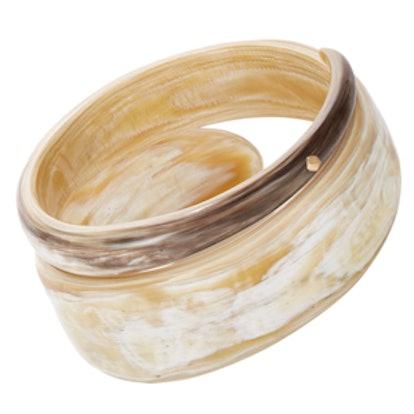 Gold & Buffalo Horn Studded Bangle