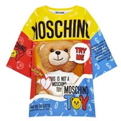 Bear Printed Oversized T-shirt Dress