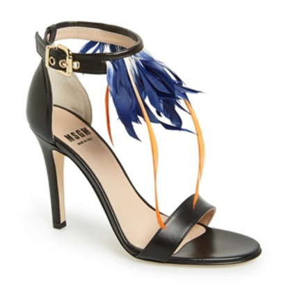 Feather Ankle-Wrap Sandal