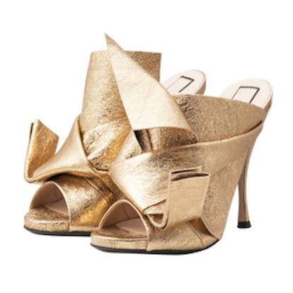 Gold Mule Sandals