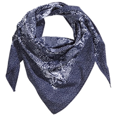 Patterned Triangle Scarf
