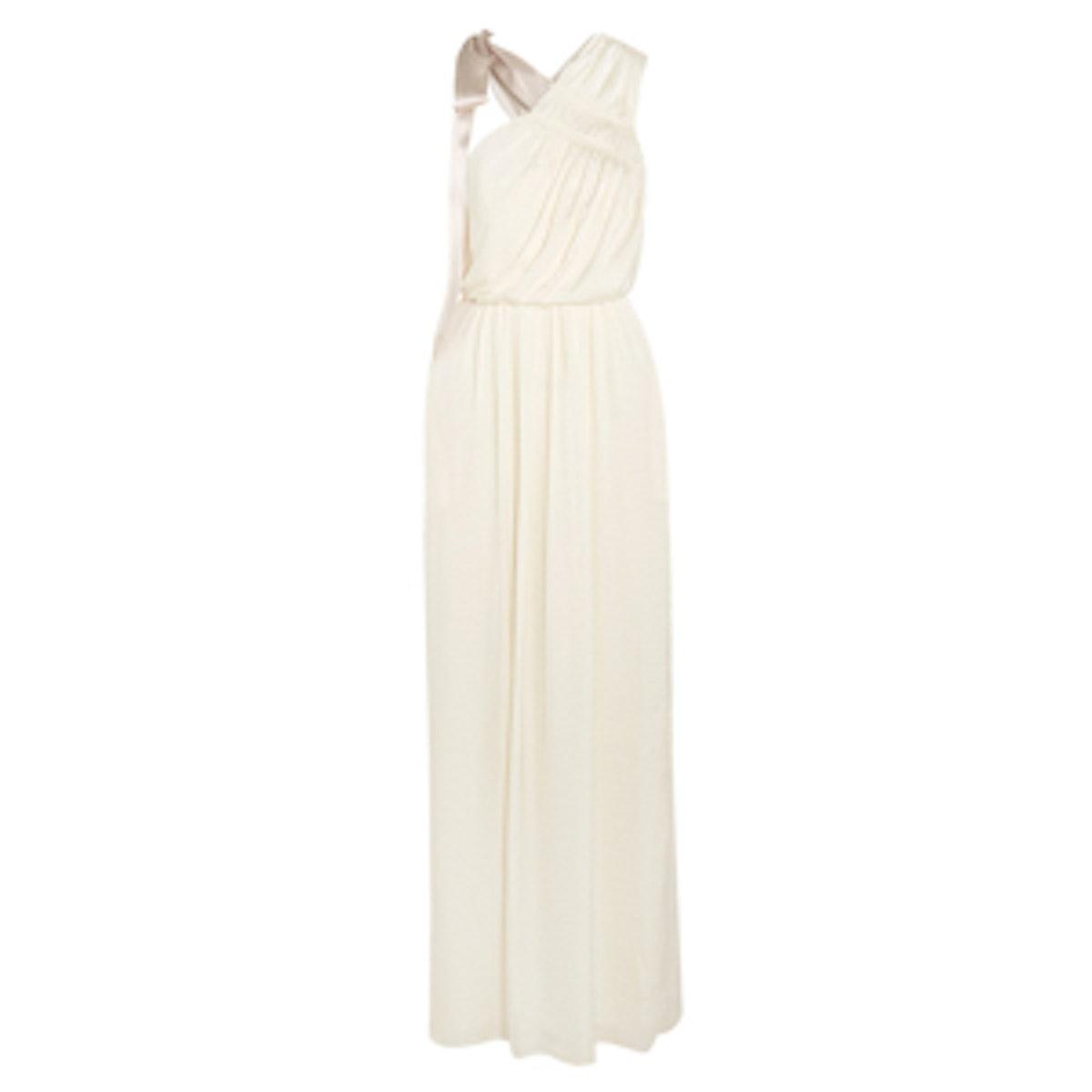 One-Shoulder Satin Maxi Dress