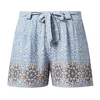 Tile-Print Shorts