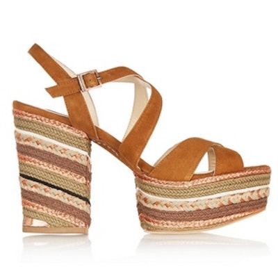 Braided Suede Platform Sandal