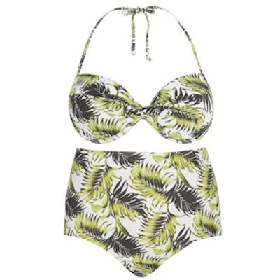 Vintage Palm-Print Bikini