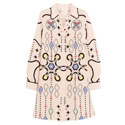 Ace Printed Silk-Crepe Mini Dress