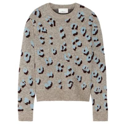 Stretch-Knit Jacquard Sweater