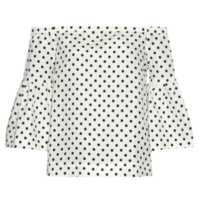 Camille Polka-Dot Silk Top