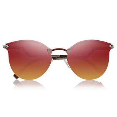 Metal-Mirrored Sunglasses