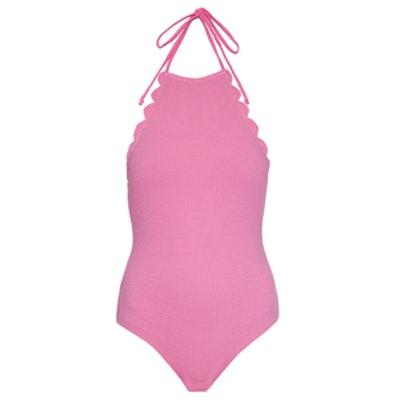 Mott Reversible Scallop-Edge Swimsuit