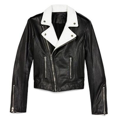 Rylan Colorblocked Leather Jacket