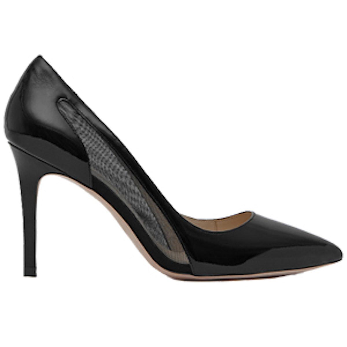 Baker Mesh-Detail Court Shoe