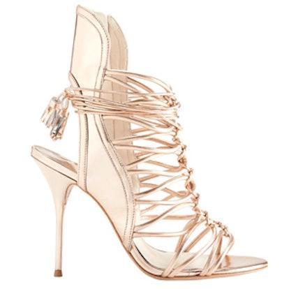 Strappy Cage Rose Gold Metallic Sandal