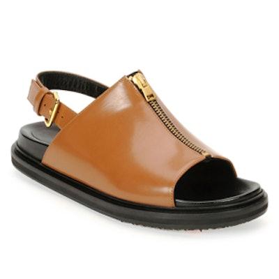 Zip-Front Slingback Sandal