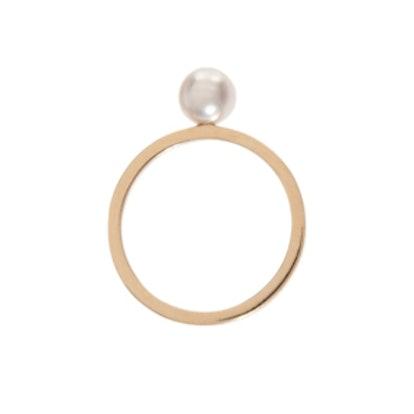 Lisa Pinkie Pearl Ring