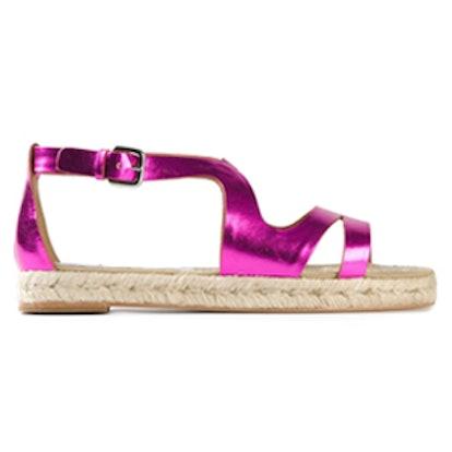 Metallic Espadrilles Sandals