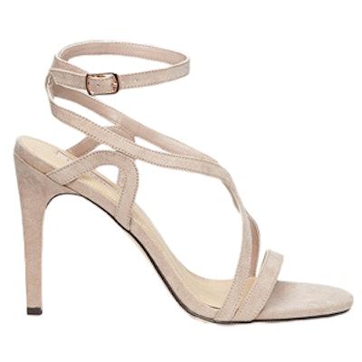 Curved-Strap Stiletto Sandals