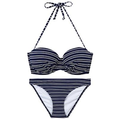 Textured Striped Bikini