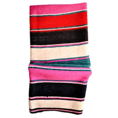 Bolivian Frazada Rug/ Blanket Moody Stripe