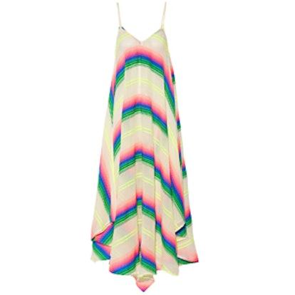 Striped Cotton-Blend Gauze Dress