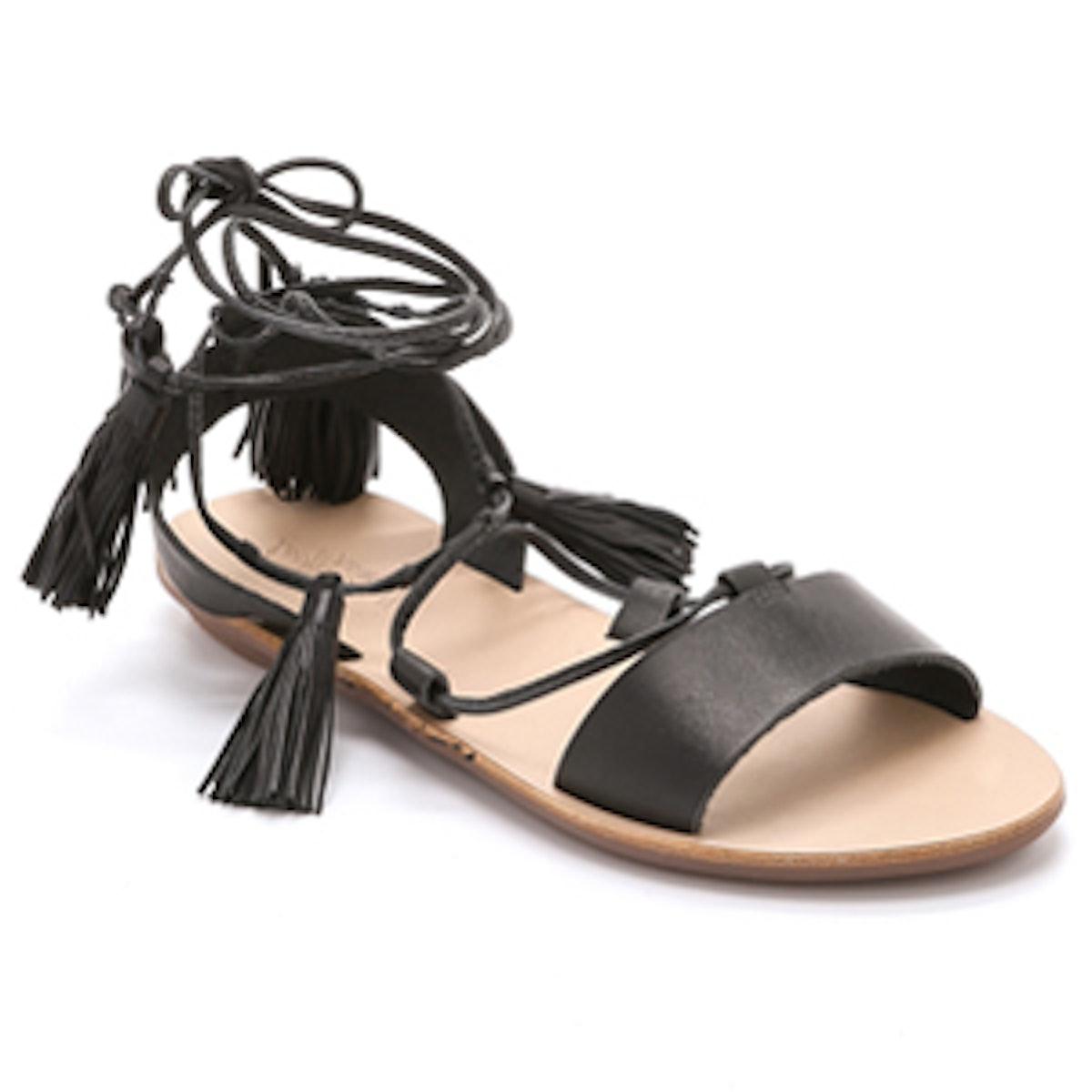 Saffron Ankle Wrap Sandal