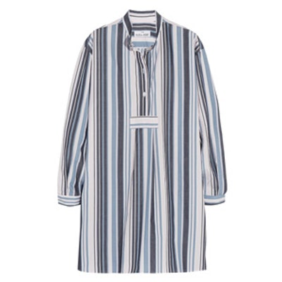 Striped Cotton Oxford Nightshirt
