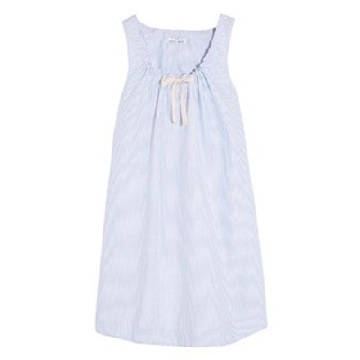 Striped Cotton Oxford Nightdress