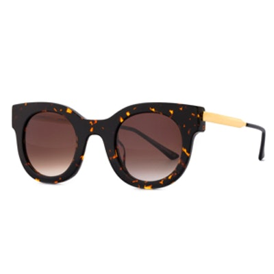 Draggy Round Sunglasses in Dark Havana