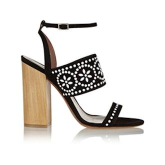 Blaze Embellished Suede Sandals