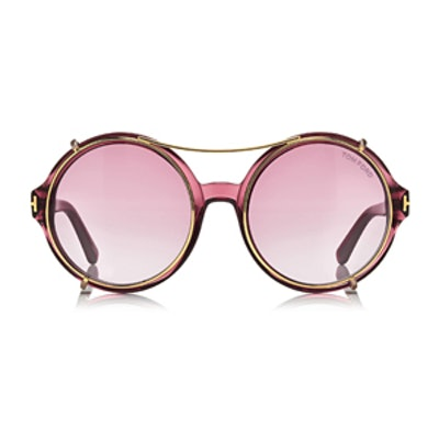 Juliet Round Glasses with Clip