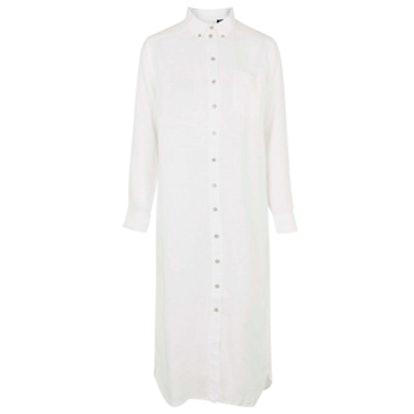Linen Shirt Dress By Boutique