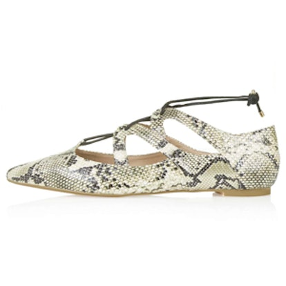Fickle Ghillie Lace Up Flats