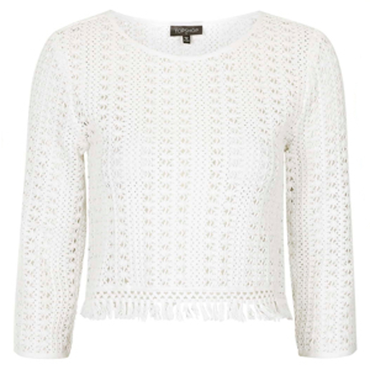 Fringe Trim Crochet Top