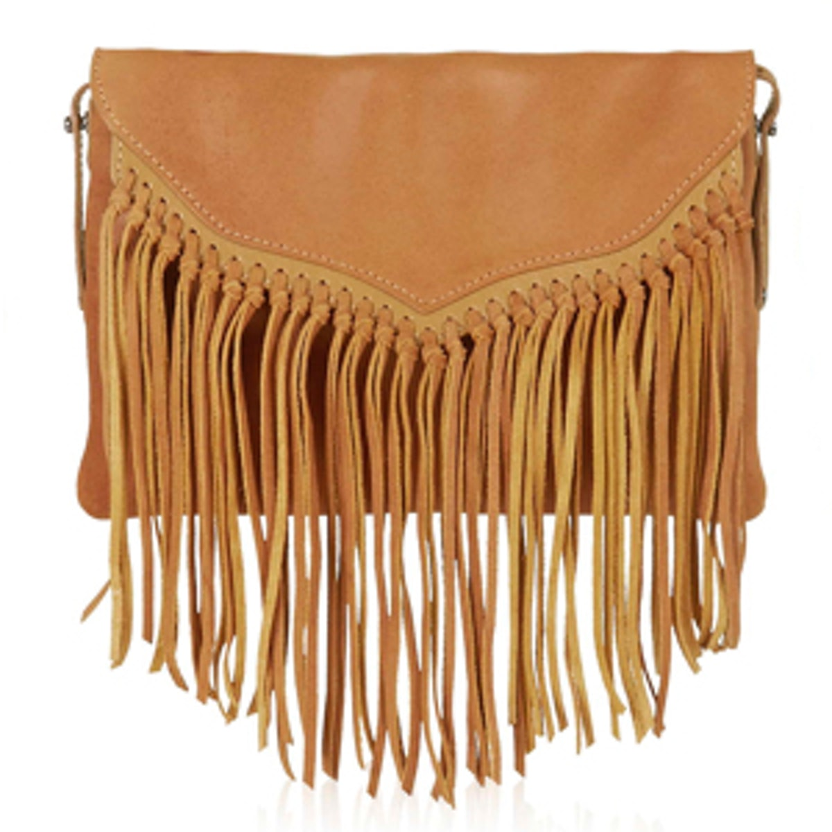 Leather Tassel Crossbody Bag