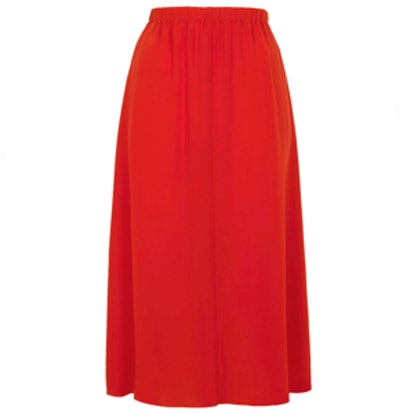 Silk Layer Slip Skirt By Boutique