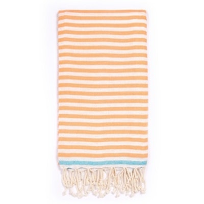 Beach Candy Swirl Beach Towel in Orange Stripes