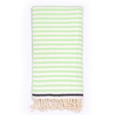 Beach Candy Swirl Beach Towel in Green Stripes