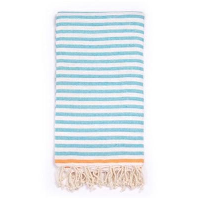 Beach Candy Swirl Beach Towel in Blue Stripes