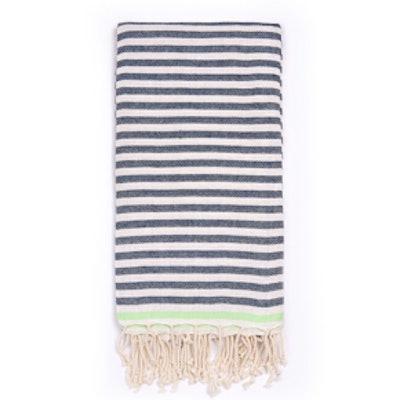 Beach Candy Swirl Beach Towel Navy Stripe