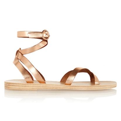 Malabar Metallic Leather Sandals