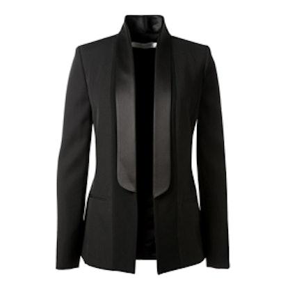 Black Virgin Wool Tuxedo Jacket