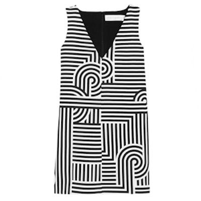 Geometric-Print Crepe Mini Dress