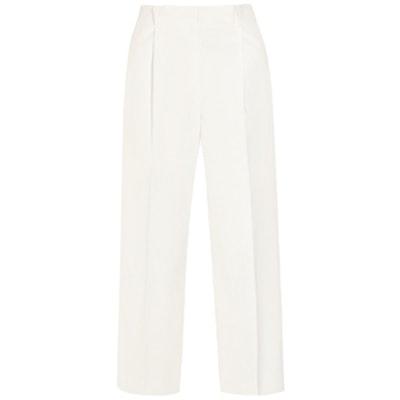 Cotton-Pique Wide-Leg Pants